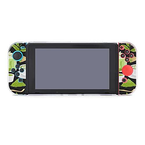 Hülle für Nintendo Switch Tassen Match Tee und Kaffee umgeben Grün Fünfteiliges Set Schutzhülle Case Kompatibel mit Nintendo Switch Spielekonsole