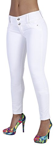 Curvify 764 Women's Butt-Lifting Skinny Jeans | High-Rise Waist, Brazilian Style Indigo 9