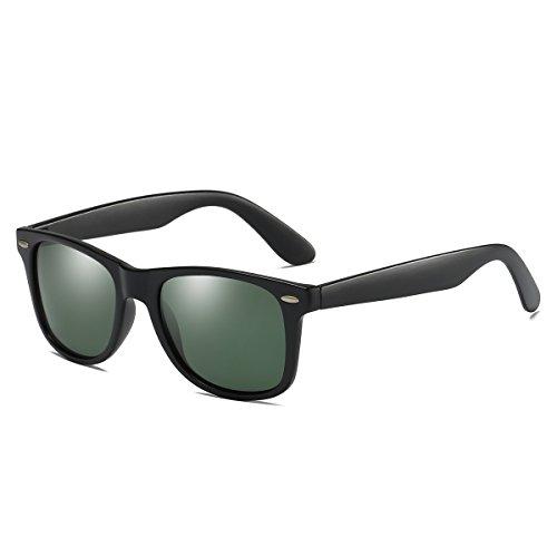 Rocf Rossini Vintage Gafas de sol polarizadas Hombres Mujeres Retro Tonos Protección UV400 (Negro / G15