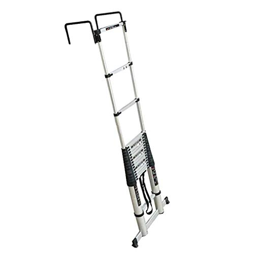 LSN Ladder,Telescopic Ladder 5.0M/16.4Ft Aluminum Ladder Extendable Ladder for Home Office Loft Use Max Load 330Lbs