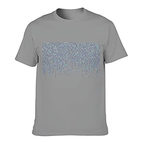 Camiseta de algodón para hombre, diseño divertido y ligero, manga corta