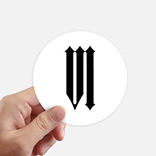 DIYthinker Romeinse cijfers zes In zwart Silhouette ronde Stickers 10 Cm muur koffer Laptop Motobike Decal 8 Stks