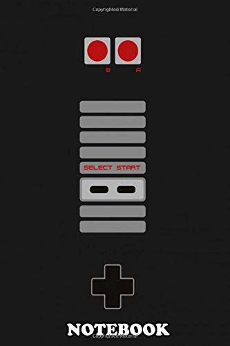 Notebook: Nes Controller , Journal for Writing, College Ruled Size 6