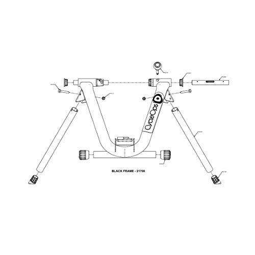 CycleOps Standfuß vorne für Basic Trainer schwarzer Rahmen, schwarz (1 Stück)