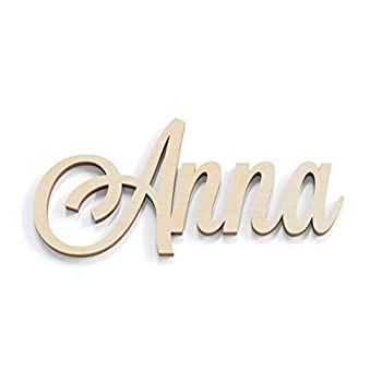 12-48 Inch Wide Custom Wooden Name Sign Hand Script Letter Baby Nursery Decor Girls Room Bedroom Wall Fancy Wood Letter Cursive Cutout Unfinished Ready to Paint Lavandaria