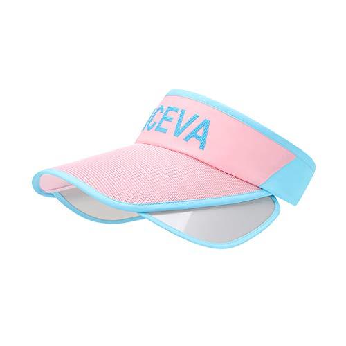 Yowablo Frauen Sonnenhut Hüte Große Breite Klappe Sommer UV-Schutz Strandkappe Floppy Sonnenhut (1Stck,Rosa)