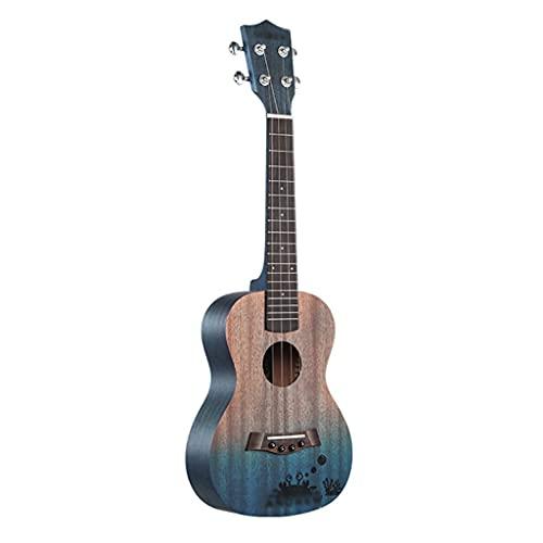 XYF Kleine Gitarre Ukulele Für Anfänger, Weibliche Jungen 23-Zoll-kleine Gitarre, Alle Palisander Bariton Akustische Elektrische Ukulele (Color : A, Size : 23 inches)