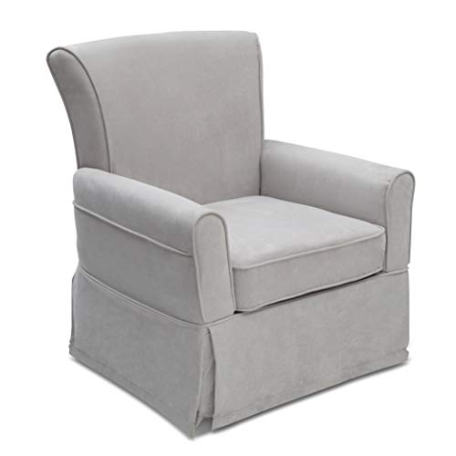 Delta Children Benbridge Glider Swivel Rocker Chair, Dove Grey