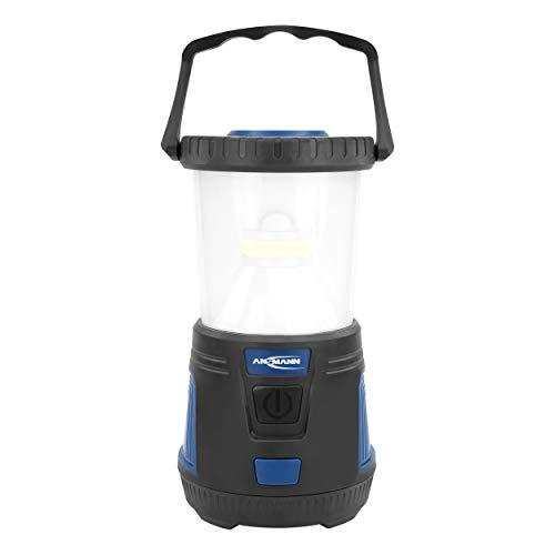 ANSMANN CL600B Lampe de camping LED 600 lumens, angle de faisceau 360 °, intensité variable en continu, étanche IPX4, 3 modes d'éclairage (blanc, rouge, rouge clignotant), à piles