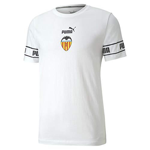 PUMA Herren VCF ftblCULTURE Tee T-Shirt, White Black, L