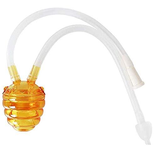 Aspirador nasal para bebés - Succionador de moco para recién nacidos Bebés con punta nasal de silicona Succión oral Higiénico y seguro