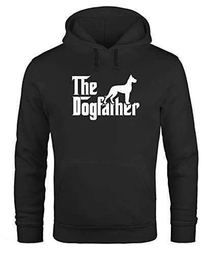 MoonWorks Hoodie Herren The Dogfather Hunde-Besitzer Hund Kapuzen-Pullover schwarz XXL