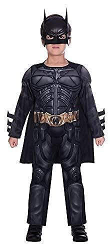 amscan 9906062 Déguisement officiel Warner Bros Batman pour enfant Noir 4-6 ans