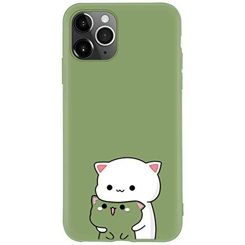 Yoedge Cover Huawei P8 Lite 2017, Custodia Morbida Verdeggiante Silicone Liquida con Design Print Cute Cartoon Pattern Antiurto Anti-Scratch Back Case per Huawei P8 Lite 2017, Verdeggiante-02