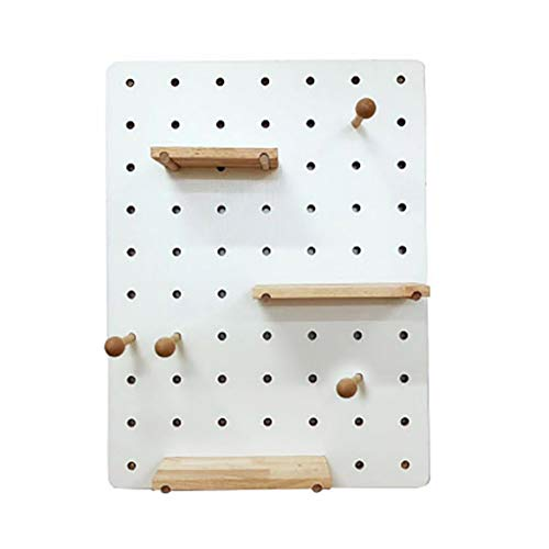 WALL RACKS BGJ Wanddekoration Regal aus Holz Loch Board Creative Wandbehang Home Storage -Wandrack Esszimmer Küche Rack-Things Hanging (Color : B1)
