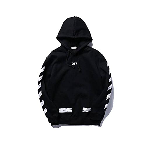 'N/A' Par de chaquetas de forro polar con capucha, diseño de flecha, estilo hip hop Negro S