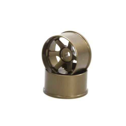 Jantes TE37 Larges Deport pour Mini-Z AWD-FWD, 3mm, Bronze, Lot de 2