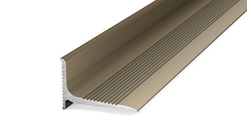 Prinz Aluminium - Wandanschlussprofil 290 - Abschlussprofil selbstklebend. Für Belagstärken ab 2 mm 20 x 13 mm - 2,50m Edelstahl Matt