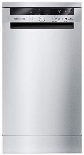 GRUNDIG GSF 41825 X Standgeschirrspüler/LC-Display mit Sensortasten/ 11 Maßgedecke/ 24 h Startzeitvorwahl/ 8 Programme Edelstahl Fingerprint Free
