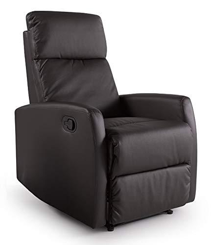 Home Heavenly -Butaca, sillón Relax Niza, reclinable con Palanca, sillones, Comodo y Elegante en Polipiel Choco