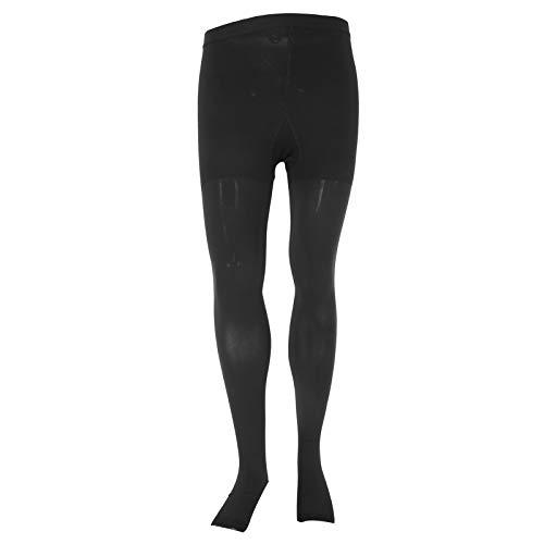 Medias de compresión, práctica, práctica, duradera, pantimedias con punta abierta, negro suave para piernas, mujeres, hogar, exterior(L)