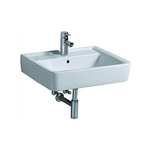 Keramag Renova Nr.1 Plan Waschtisch 600x480 mm mit Hahnloch und Überlauf KeraTect