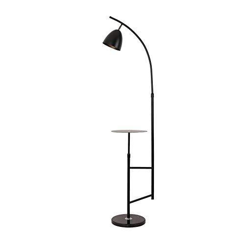 VOMI Huiskamer Wijnoogst Vloerlamp Met Plank E27 Draaibaar Leeslampje Hoogte Verstelbaar Staande Lamp Marmeren Voet Booglamp Met Voetschakelaar Voor Slaapkamer Werkruimte Eettafel