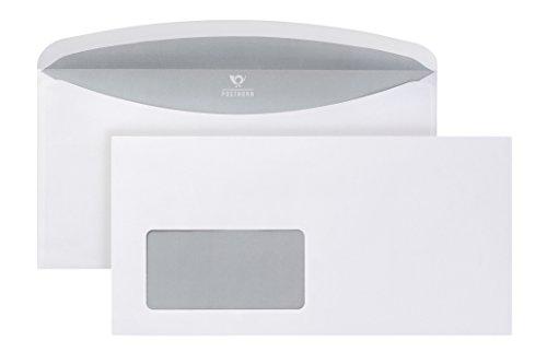 POSTHORN Briefumschalg C6/5 (114x229mm) nassklebend mit Fenster weiß 80g ISK Velox 3000 1000 Stück