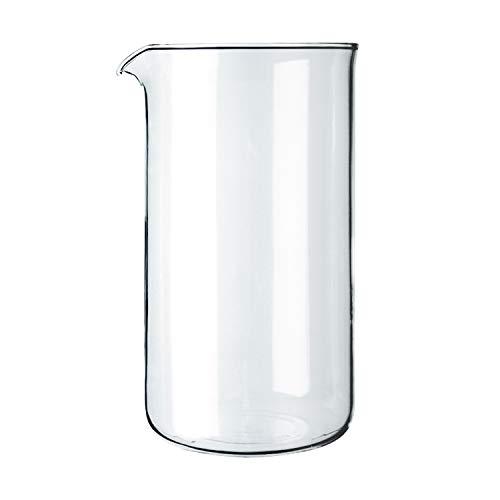 Bodum 1508-10 Ersatzglas zu Kaffeebereiter 8 Tassen, 1.0 l, ø 9.6 cm
