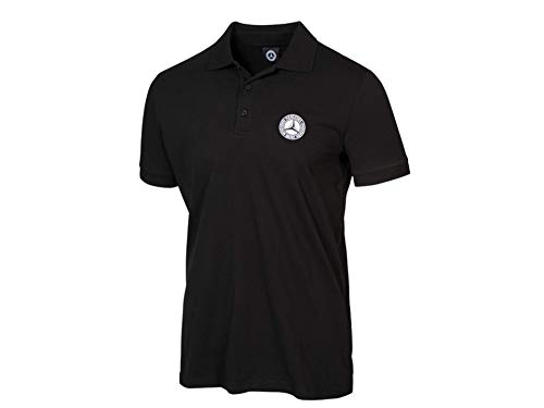 Mercedes-Benz Poloshirt Herren schwarz, T-Shirt, Herren, schwarz, Poloshirt (XXL)