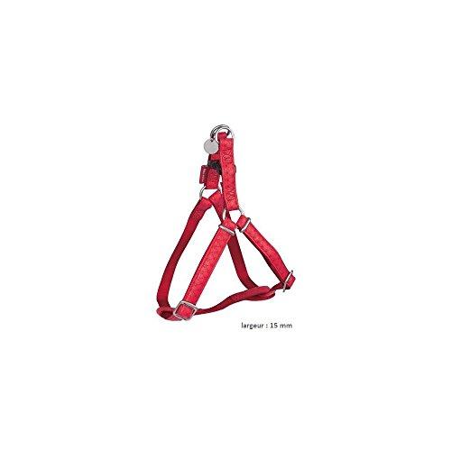 Zolux Mac Leather - Arnés Ajustable para Perro, 15 mm, Color Rojo