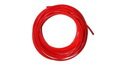 """Vyair 10 metro de tubo de filtro de suministro de agua para adaptarse a la nevera doble de estilo americano y europeo (rojo) (tubo de 1/4"""")"""