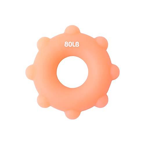 Y-H Anillos de agarre de silicona Ocho anillos convexos de agarre inodoro Masaje dispositivo Naranja 2 piezas vendidas