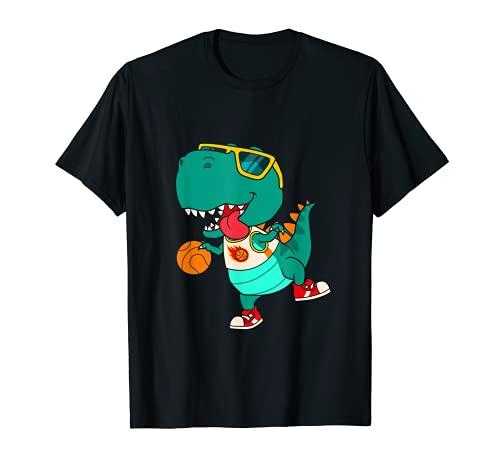 T-Rex jugando al baloncesto, el entrenador Dino Trex Rex Spo Camiseta