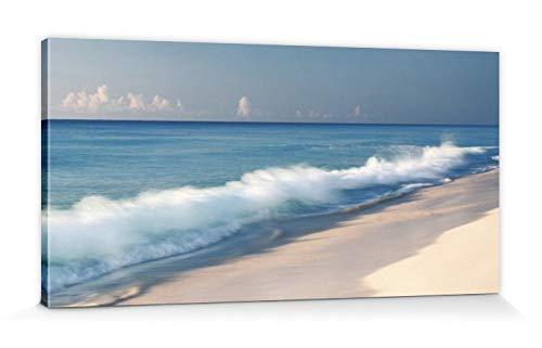 1art1 Strände - Brandungswelle, Cancun, Mexico, Jeremy Woodhouse Bilder Leinwand-Bild Auf Keilrahmen   XXL-Wandbild Poster Kunstdruck Als Leinwandbild 100 x 50 cm