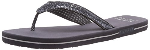 ESPRIT Glitter Thongs, Damen Zehentrenner, Grau (041 pebble grey), 39 EU