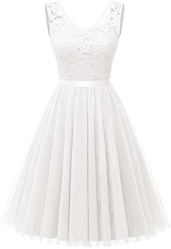 Dressystar V Neck Sleeveless Homecoming Dress Cocktail Tulle Swing Prom Teens Party Gown LF05 product image