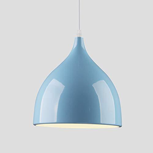 E27 Moderno Metallo Lamapada a Sospensione Industriale Lampada Lampadario Lustro Soffitto Industrial Edison da Soffitto Illuminazione a sospensione Lampada(Blu)