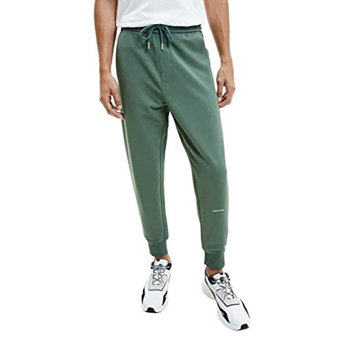 Calvin Klein Jeans Micro Branding HWK Pant Chndal, Verde Pato, XXL para Hombre