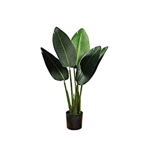 dxjsf Simulation Tree Simulation Banana Tree Simulation Tree Indoor Garden Home Office Decoration Bonsai Potted Plastic Simulation Tree Fake Plant Artificial Bonsai Tree (Size : B)