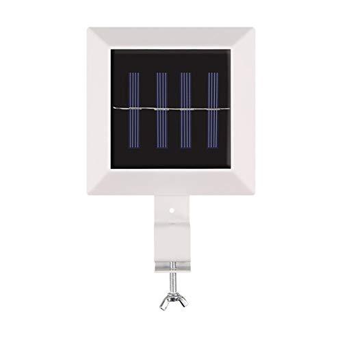 Lámparas de seguridad de pared impermeable LED de valla solar de luz blanca para exteriores, paisaje decorativo, patios, villas, pasillos