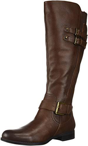 Naturalizer Women's Jessie Wide Calf Knee High Boot, Chocolate wc, 7 M US