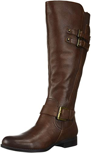 Naturalizer Women's Jessie Wide Calf Knee High Boot, Chocolate wc, 9 W US