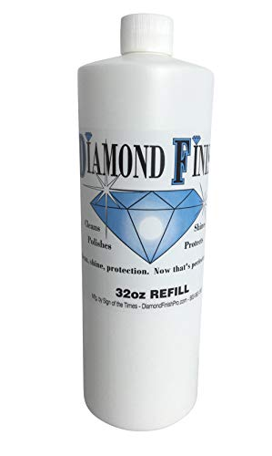 Diamond Finish 32oz Refill Multi Surface Nano Cleaner Polish Protector for Vehicles, Home, Boats; Removes Bug Residue, Tar, Bird Poop, Brake Dust, Tree Sap, Grease, Fingerprints - While it Shines