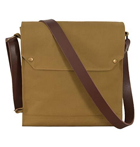 Indiana Jones Bag Mk VII Leather Strap WWII Gas Mask Bag Satchel Khaki Canvas Reproduction