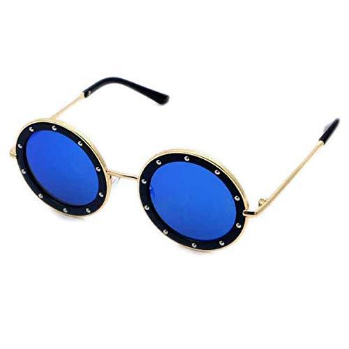 SMZsmz Kinder Sonnenbrille Nette Runde Niet Sonnenbrille UV400 Legierung Sport Sonnenbrille Für Babys Mädchen Jungen Laufsteg Brille Anti-UV-Sonnenbrille