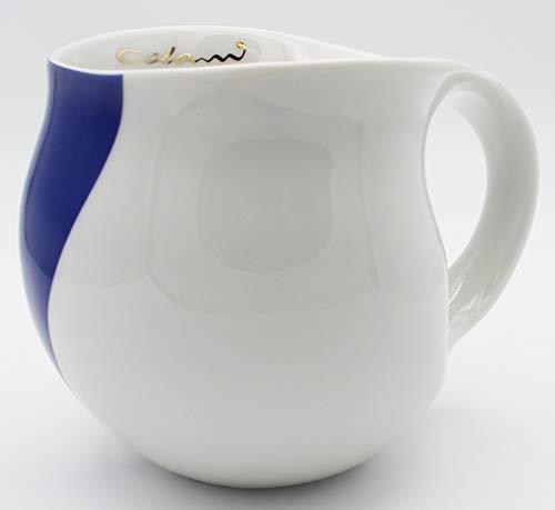 """Luigi Colani dekorierte Kaffeetasse Becher Tasse Cappuccinotasse Kaffeebecher """"Gold&Color"""" Arrow blau/Blue 280 ml"""