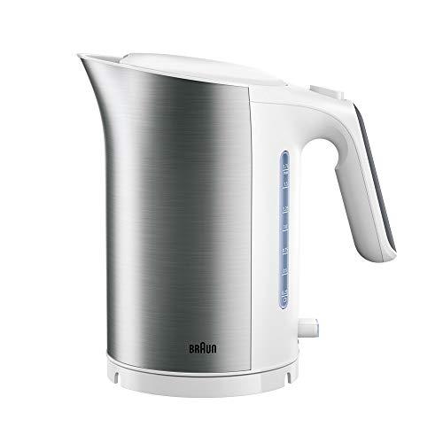 Braun Household Braun IDCollection waterkoker WK 5115 WH – met snelkooksysteem & warmhoudfunctie, 5 temperatuurniveaus voor thee, 1,7 l inhoud, 3000 W, wit/roestvrij staal, kunststof, 1,7 liter
