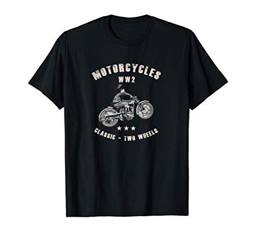 Segunda Guerra Mundial WW2 clásico de la motocicleta Camiseta