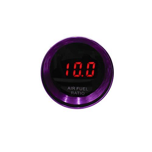 no-branded Kraftstoffanzeige 37mm Digital Auto-Luft-Kraftstoff-Verhältnis Spur Mini Rauch-Objektiv-rote LED-Auto-Luft-Kraftstoff-Meter Lila Luft/Kraftstoff = 10~20 AFR CGFEUR